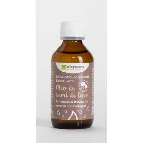 Olio di semi di lino bio - La Saponaria