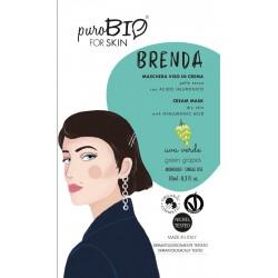 Maschera Viso Brenda - Uva verde - PuroBIO FOR SKIN