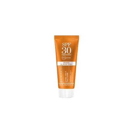 Bioearth Sun Defence Crema Viso SPF 30 Reishi e Aloe Vera