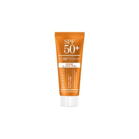 Bioearth Sun Defence Crema Viso SPF 50+ Reishi e Aloe Vera