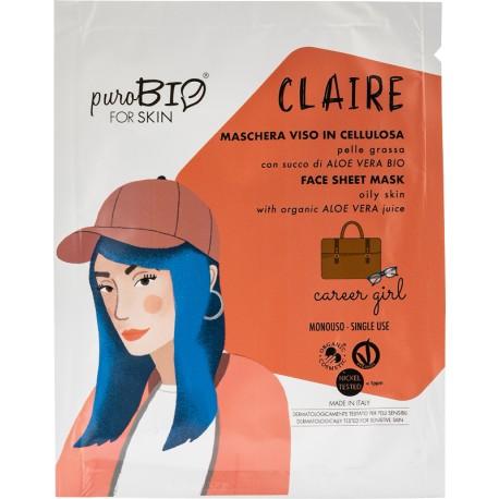Maschera Viso Claire - Career Girl - PuroBIO FOR SKIN