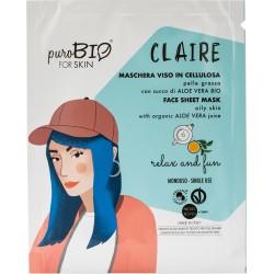 Maschera Viso Claire - Relax and Fun - PuroBIO FOR SKIN