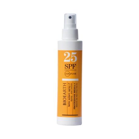 Latte Solare Spray SPF 25 - Bioearth